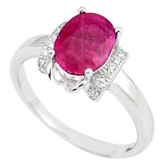 4.38cts natural red ruby topaz 925 sterling silver ring jewelry size 7.5 c17739