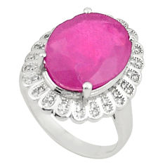 10.89cts natural red ruby topaz 925 sterling silver ring jewelry size 7.5 c17666