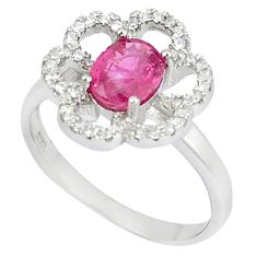 Natural red ruby topaz 925 sterling silver ring jewelry size 7.5 c17951
