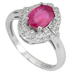 Natural red ruby topaz 925 sterling silver ring jewelry size 6.5 c17785