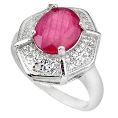 Natural red ruby topaz 925 sterling silver ring jewelry size 6.5 c17799