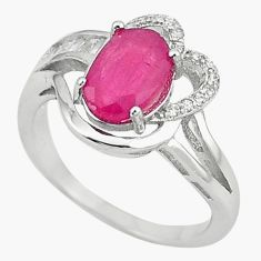 Natural red ruby topaz 925 sterling silver ring jewelry size 6.5 c17818