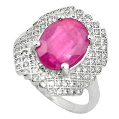 Natural red ruby topaz 925 sterling silver ring jewelry size 6.5 c17757