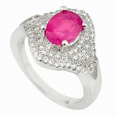 Natural red ruby topaz 925 sterling silver ring jewelry size 5.5 c22298