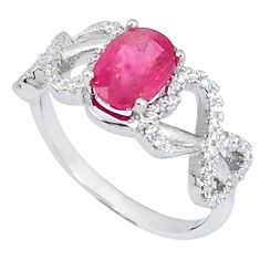 4.06cts natural red ruby topaz 925 sterling silver ring jewelry size 7.5 c26022