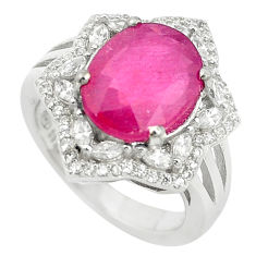 Natural red ruby topaz 925 sterling silver ring jewelry size 6 c17674