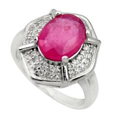 5.60cts natural red ruby topaz 925 sterling silver ring jewelry size 6 c10019
