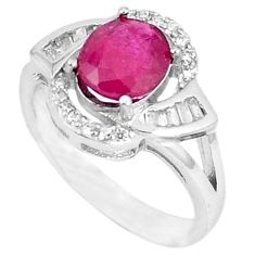 Natural red ruby topaz 925 sterling silver ring jewelry size 7 c17801