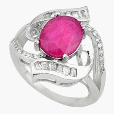 Natural red ruby topaz 925 sterling silver ring jewelry size 7 c17710