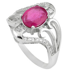 Natural red ruby topaz 925 sterling silver ring jewelry size 8 c17788