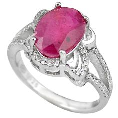 Natural red ruby topaz 925 sterling silver ring jewelry size 8 c17789