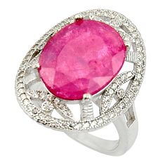 11.23cts natural red ruby topaz 925 sterling silver ring jewelry size 8 c9843