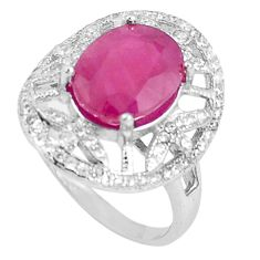 6.58cts natural red ruby topaz 925 sterling silver ring jewelry size 7 c17715