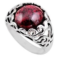 5.53cts natural red tourmaline 925 silver solitaire ring jewelry size 9 r54605