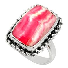 9.39cts natural rhodochrosite inca rose 925 silver solitaire ring size 7 r28014