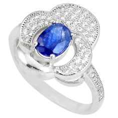 3.10cts natural blue sapphire topaz 925 sterling silver ring size 8 c17910