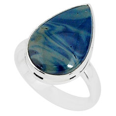 7.72cts natural swedish slag 925 silver solitaire ring jewelry size 7 r95589