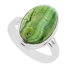 6.33cts natural swiss imperial opal 925 silver solitaire ring size 7 r95790
