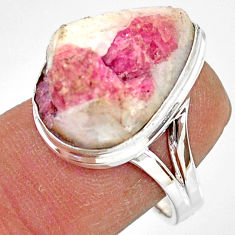 12.83cts natural tourmaline in quartz 925 silver solitaire ring size 7 r85766