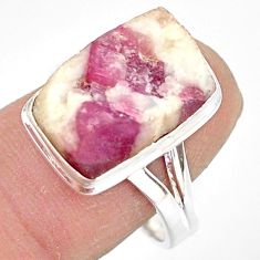 7.40cts natural tourmaline in quartz 925 silver solitaire ring size 9 r85777