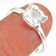 2.59cts natural white danburite faceted 925 sterling silver ring size 9 r88488
