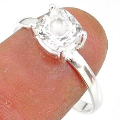 2.69cts natural white danburite faceted 925 sterling silver ring size 9 r88512