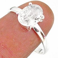 2.70cts natural white danburite faceted 925 sterling silver ring size 9 r88516