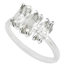5.44cts natural white herkimer diamond 925 sterling silver ring size 7 t10578