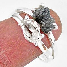 7.62cts natural white herkimer diamond diamond raw silver ring size 9 t6767