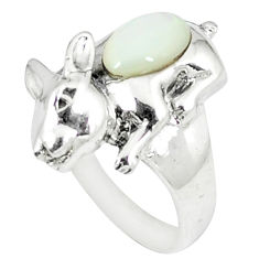 2.46cts natural white pearl 925 sterling silver ring jewelry size 7.5 c12048