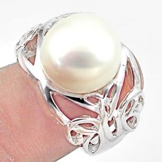 7.10cts natural white pearl 925 sterling silver ring jewelry size 7 c23882