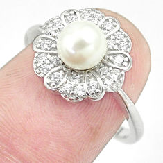 2.60cts natural white pearl topaz 925 sterling silver ring jewelry size 7 c25287
