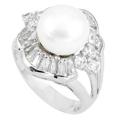 8.24cts natural white pearl white topaz 925 sterling silver ring size 6 c25228