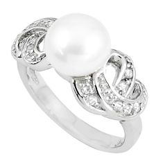 10.73cts natural white pearl white topaz 925 sterling silver ring size 7 c25165