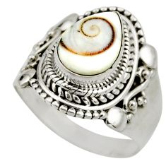2.42cts natural white shiva eye 925 silver solitaire ring jewelry size 6 r52483