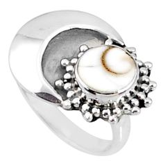 2.32cts natural white shiva eye 925 silver solitaire ring jewelry size 6 r67390