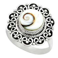 5.11cts natural white shiva eye 925 silver solitaire ring jewelry size 7 r52443