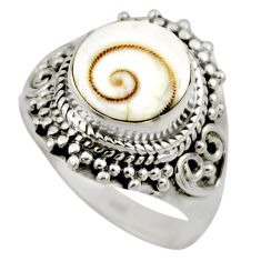 4.42cts natural white shiva eye 925 silver solitaire ring jewelry size 7 r52489
