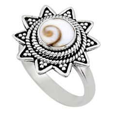2.68cts natural white shiva eye 925 silver solitaire ring jewelry size 7 r54325
