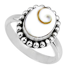 4.22cts natural white shiva eye 925 silver solitaire ring jewelry size 7 r57911