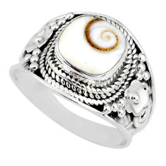 3.42cts natural white shiva eye 925 silver solitaire ring jewelry size 7 r58297