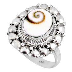 4.08cts natural white shiva eye 925 silver solitaire ring jewelry size 7 r58953