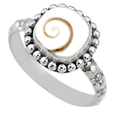 3.09cts natural white shiva eye 925 silver solitaire ring jewelry size 7 r65005