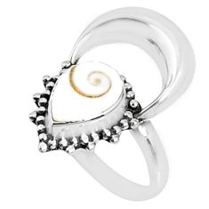 2.97cts natural white shiva eye 925 silver solitaire ring jewelry size 7 r67289