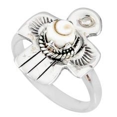 0.90cts natural white shiva eye 925 silver solitaire ring jewelry size 7 r67391