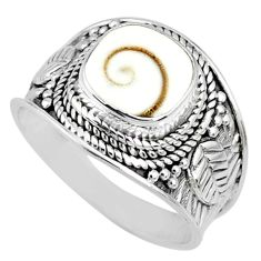 3.26cts natural white shiva eye 925 silver solitaire handmade ring size 7 r74707