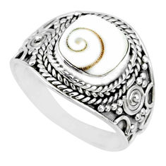 2.92cts natural white shiva eye 925 silver solitaire handmade ring size 7 r74712