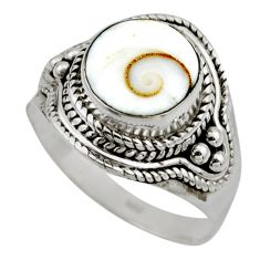 4.64cts natural white shiva eye 925 silver solitaire ring jewelry size 8 r52486