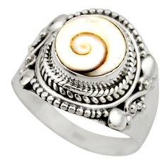 5.09cts natural white shiva eye 925 silver solitaire ring jewelry size 8 r52490