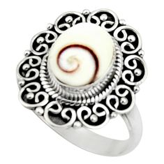 4.28cts natural white shiva eye 925 silver solitaire ring jewelry size 8 r52562